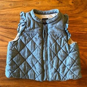 Gap Baby Chambray Quilted Vest
